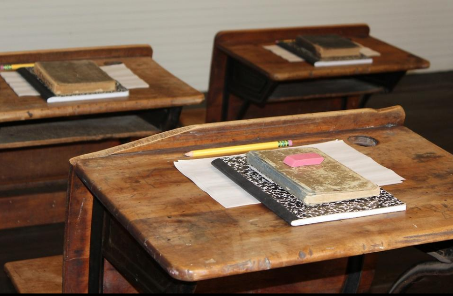 School Desk at Plesant View SChool